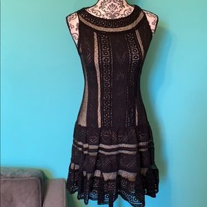 Alice + Olivia Lace Embroidered Flirty Dress 4